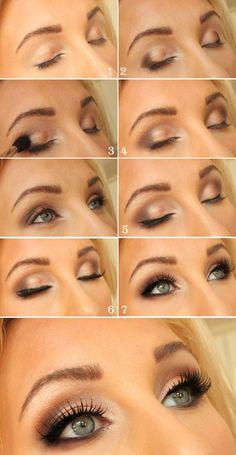 Предлагаю вам несколько схем исполнения дневного макияжа. 531c828f0ca79