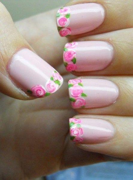 цветочный маникюр