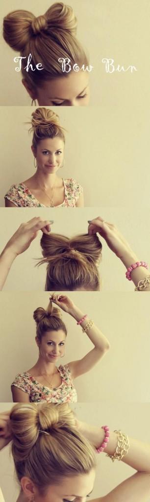 причёска пучок своими руками