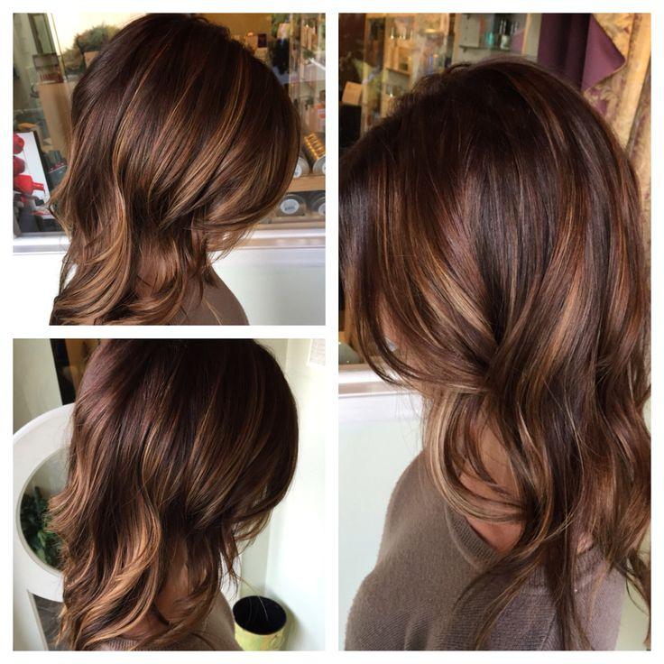 Окрашивание темных волос в 2016 году