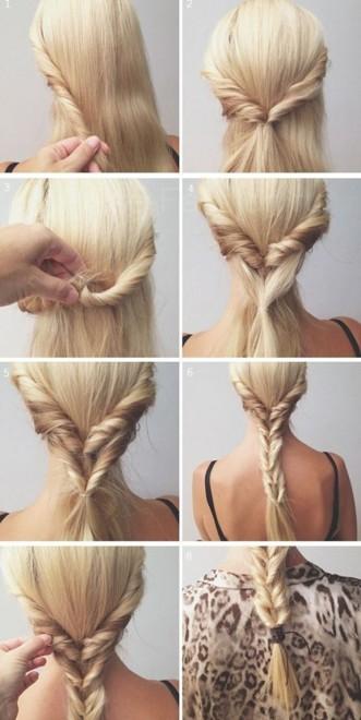 Плетение кос Пошаговое фото и инструкция для начинающих 92