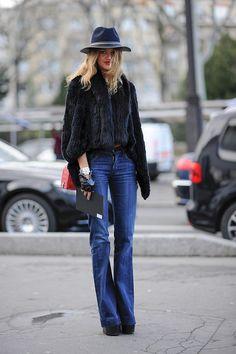 джинсы клёш