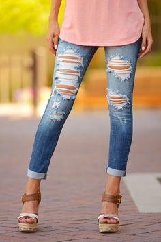 джинсы укороченные