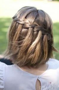 укладка для коротких волос