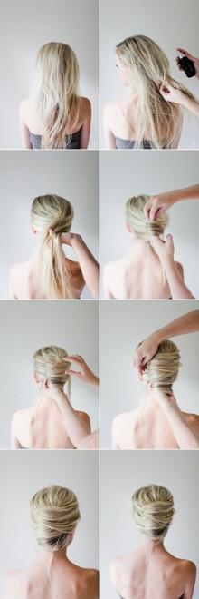 Простые прически с собранными волосами своими руками