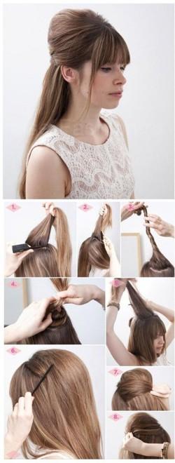Как сделать модный начес фото