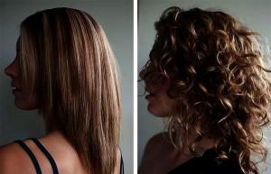 Как выбрать варианты для химической завивки на длинные волосы? До и после