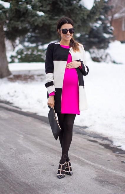 мода для беременных зима 2019