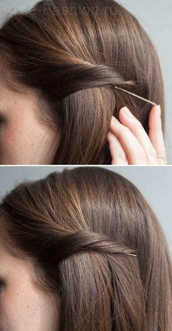 Простые и легкие прически с распущенными волосами