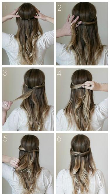 Прически повседневные на средние волосы своими руками
