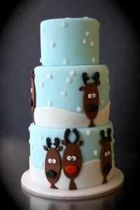 новогодний декор тортов