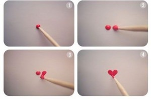 как нарисовать сердечко на ногтях своими руками