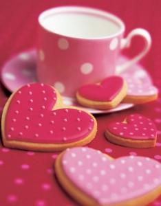 пряники, печенье в виде сердца