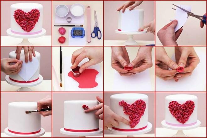 как украсить торт сердечком из мастики