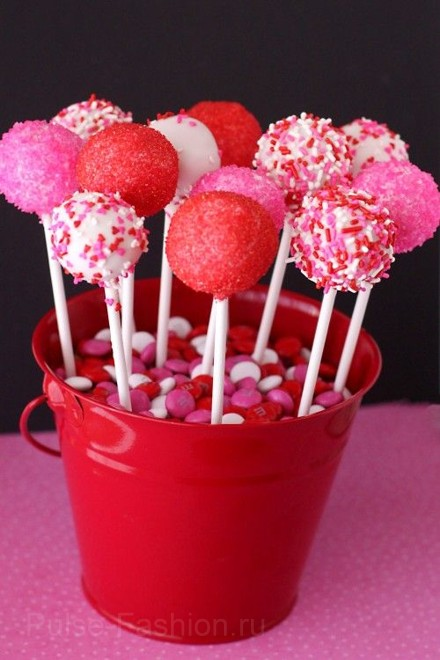 кейк попсы на день святого валентина