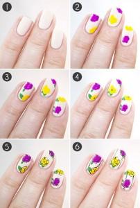 цветочный маникюр своими руками
