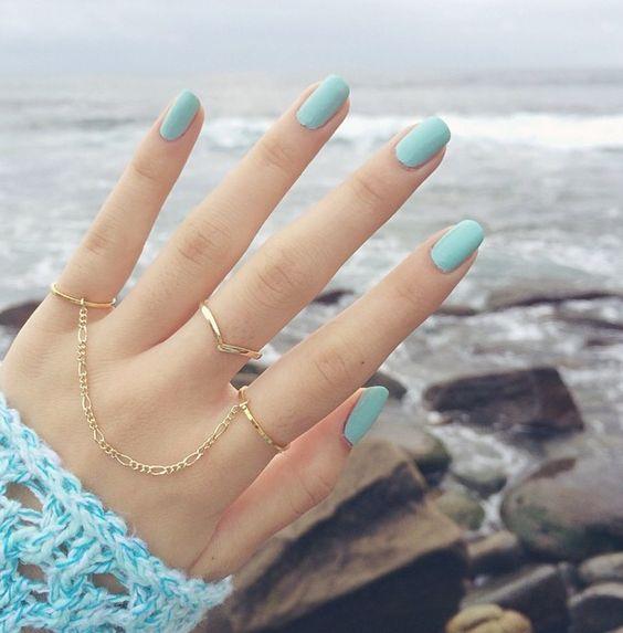 овальная форма ногтей