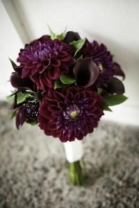 свадебный букет из калл и орхидей