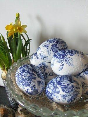 пасхальные яйца в технике декупаж своими руками