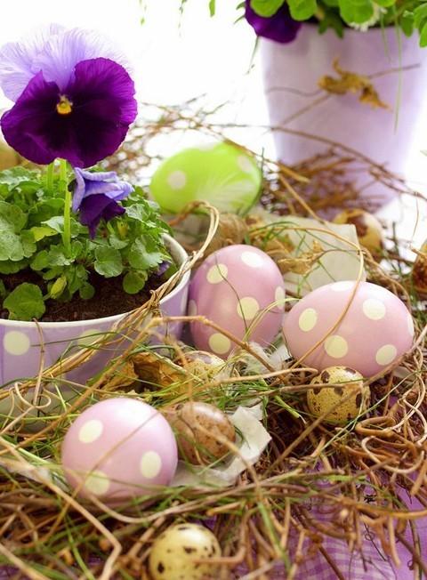 яйца в горошек своими руками