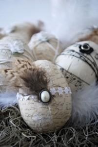 винтажные пасхальные яйца в технике декупаж своими руками