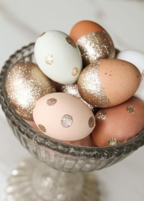 блестящие пасхальные яйца своими руками