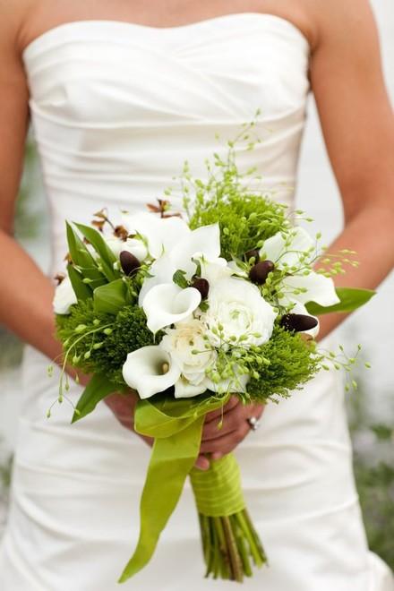 свадебный букет из калл