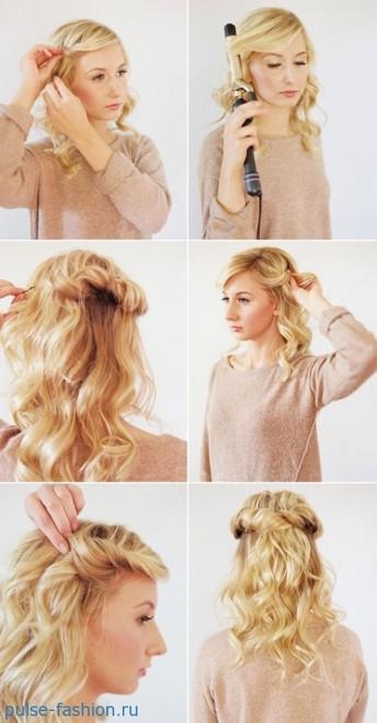 причёски на средние волосы своими руками