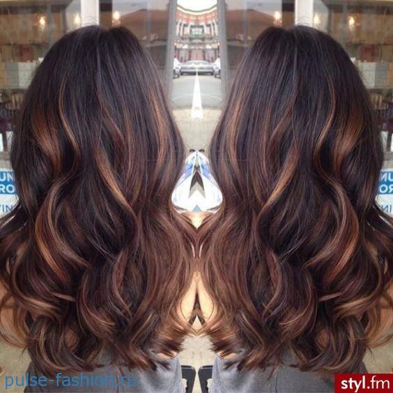 Окрашивание тёмных волос 2016 фото новинки