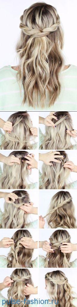 Укладка волос в домашних условиях. Схемы укладки волос своими руками фото