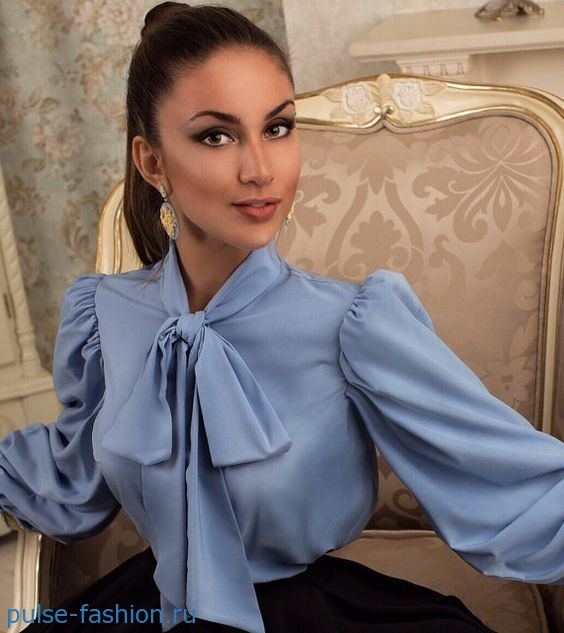 Блузы с бантом 2020 фото
