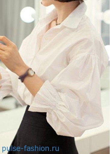Блузы с рукавами «фонарик»