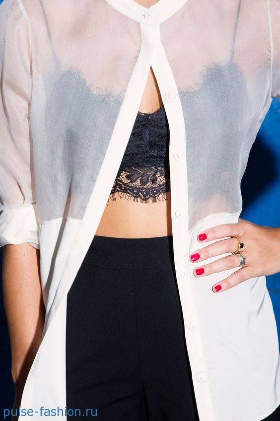 Прозрачные блузы 2020 фото