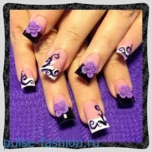 Модный маникюр с рисунками на ногтях фото