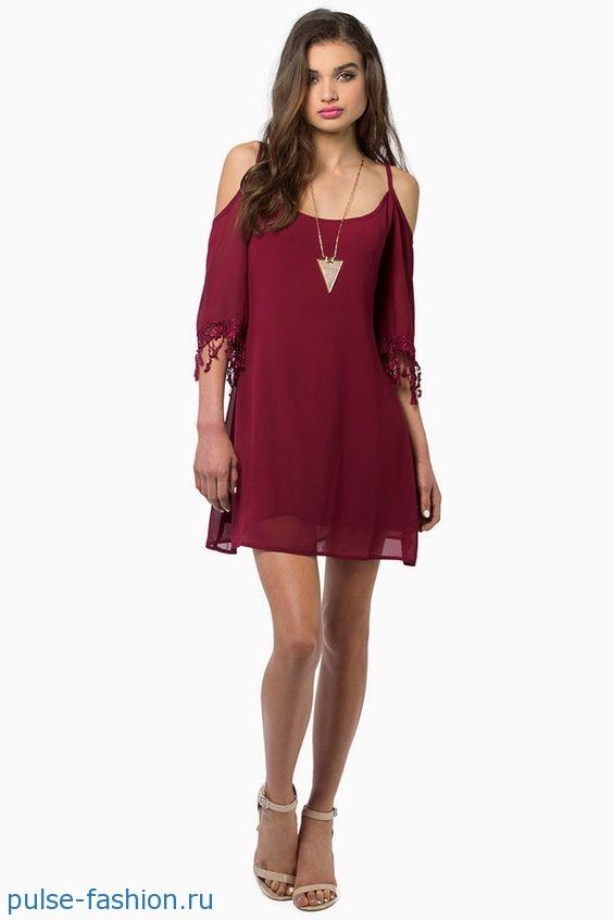 Модные платья с открытыми плечами 2019