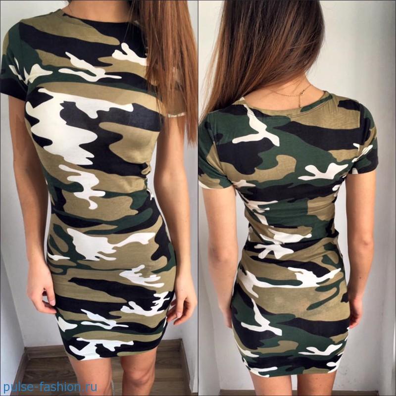 Модные платья в стиле милитари весна-лето 2018