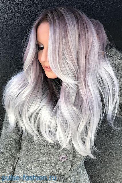 Модная седина волос 2020 Модный цвет волос 2020