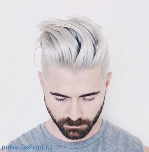Стильная и модная мужская щетина 2021 Модный цвет волос для мужчин фото 2021