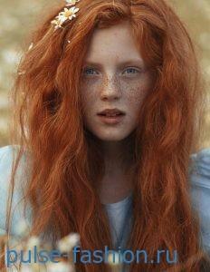 Красно-золотой оттенок и рыжеватый оттенок волос 2017