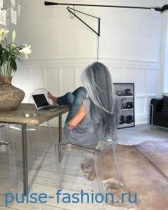 Модная седина волос 2017 Модный цвет волос 2017
