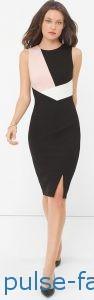 Модные и красивые деловые офисные платья