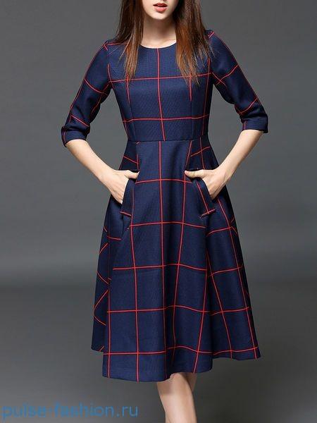 Модные и красивые деловые офисные платья 2017-2018