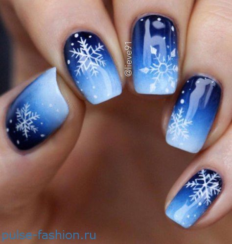 Зимний дизайн ногтей. Новогодний и рождественский маникюр 2018