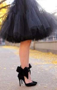 Черный Туфли с бантами фото