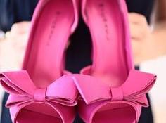 Розовые Туфли с бантами фото