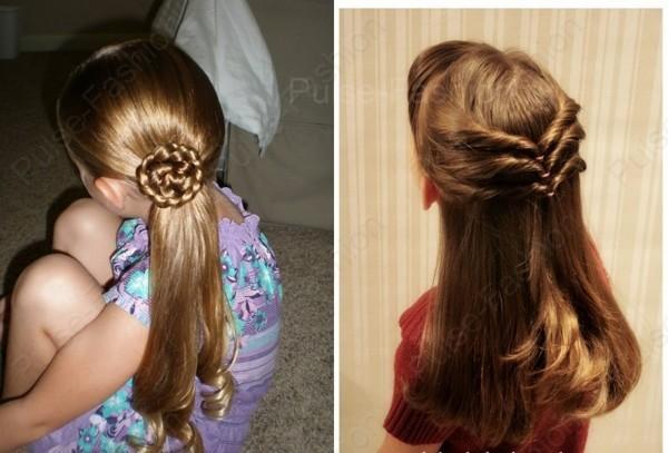 детские прически на длинноватые волосы