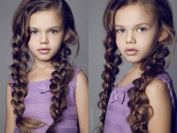 Причёски для детей с длинными волосами своими руками