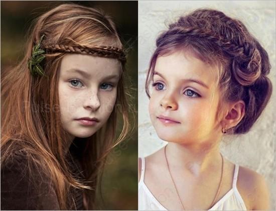 Стильные и модные детские прически фото