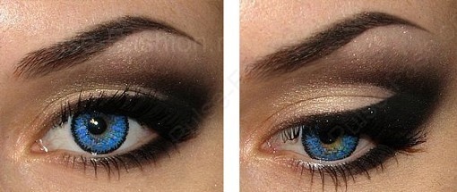 дневной мейкап для серо-голубых глаз