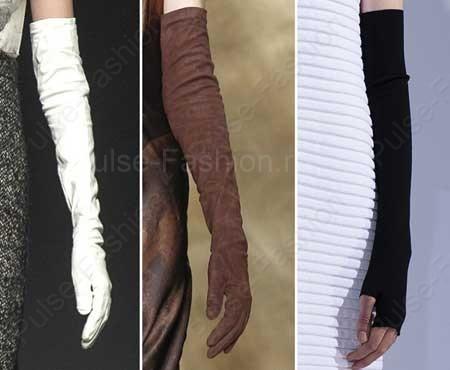 дамские перчатки осень-зима 2015